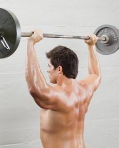 Жим штанги - упражнение для спины